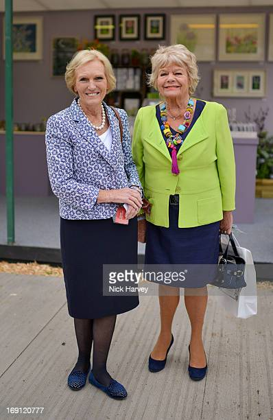 Mary Berry and Judith Chalmers attend the Chelsea Flower Show press and VIP preview day at Royal Hospital Chelsea on May 20 2013 in London England