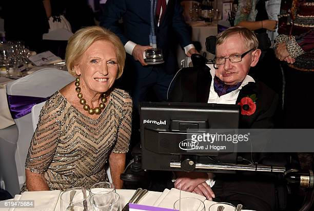 Mary Berry and Stephen Hawking attend the Daily Mirror Pride of Britain Awards in Partnership with TSB at The Grosvenor House Hotel on October 31...