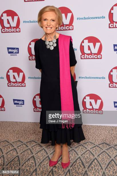 Mary Berry arrives at the TV Choice Awards at The Dorchester on September 4 2017 in London England