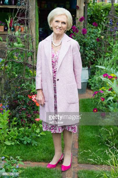 Mary Berry attends RHS Chelsea Flower Show press day at Royal Hospital Chelsea on May 22 2017 in London England