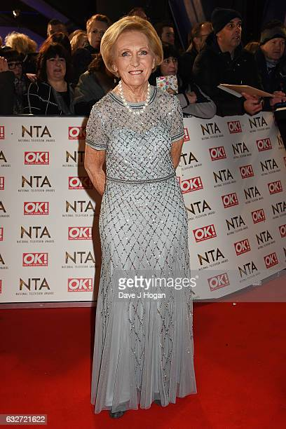 Mary Berry attends the National Television Awards at Cineworld 02 Arena on January 25 2017 in London England