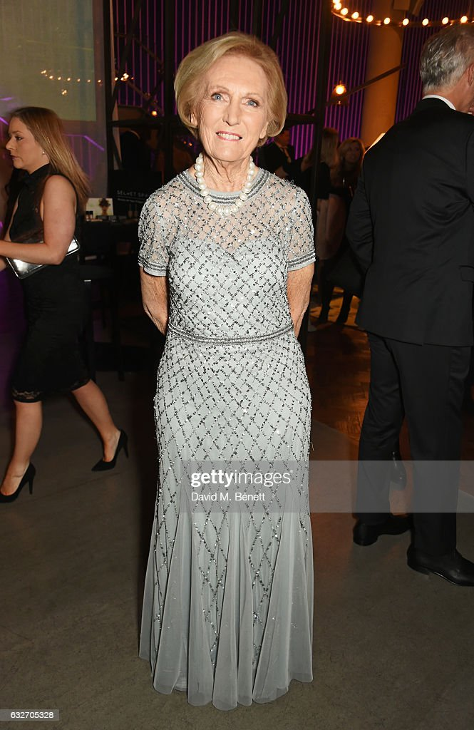 Mary Berry attends the National Television Awards cocktail reception at The O2 Arena on January 25, 2017 in London, England.