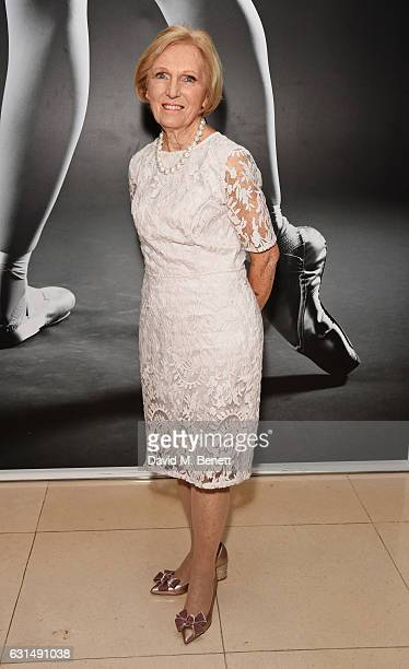 Mary Berry attends the opening night reception of the English National Ballet's production of 'Giselle' hosted by St Martins Lane on January 11 2017...