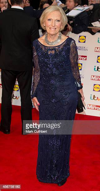 Mary Berry attends the Pride of Britain awards at The Grosvenor House Hotel on October 6 2014 in London England