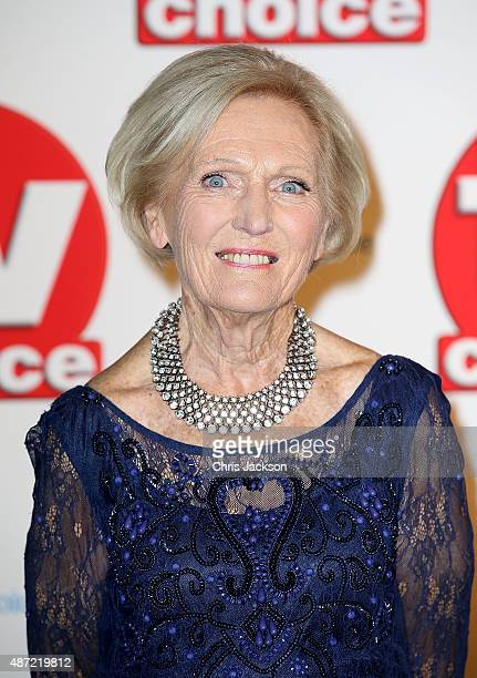 Mary Berry attends the TV Choice Awards 2015 at Hilton Park Lane on September 7 2015 in London England