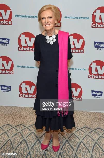 Mary Berry attends the TV Choice Awards at The Dorchester on September 4 2017 in London England