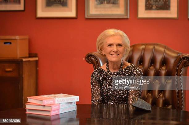 Mary Berry signs copies of her book at The Cambridge Union on May 8 2017 in Cambridge Cambridgeshire