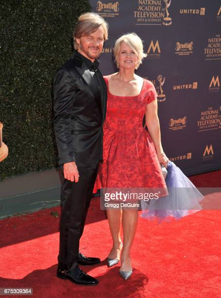 Mary Beth Evans and Stephen Nichols arrive at the 44th Annual Daytime Emmy Awards at Pasadena Civic Auditorium on April 30 2017 in Pasadena California