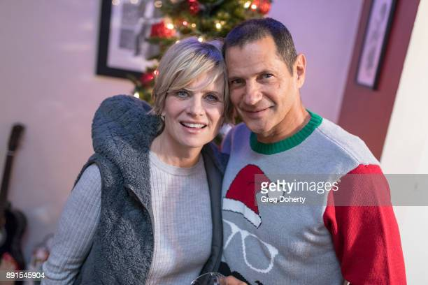 Mary Beth Evans and Tomas Collabro attend The Bay Ugly Sweater And Secret Santa Christmas Party at Private Residence on December 12 2017 in Los...