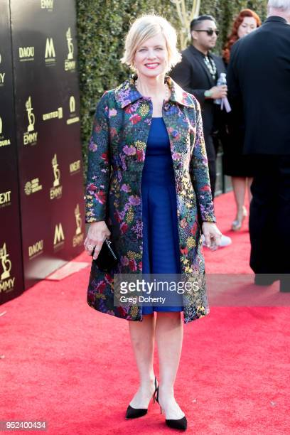 Mary Beth Evans attends the 2018 Daytime Creative Arts Emmy Awards at Pasadena Civic Center on April 27 2018 in Pasadena Texas