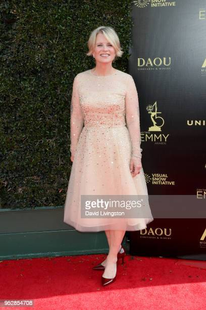 Mary Beth Evans attends the 45th annual Daytime Emmy Awards at Pasadena Civic Auditorium on April 29 2018 in Pasadena California
