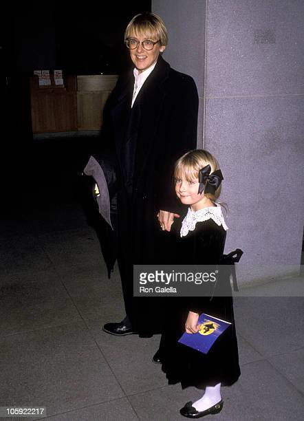 Mary Beth Hurt and daughter during The Little Mermaid New York City Premiere at Metropolitan Museum of Art in New York City New York United States