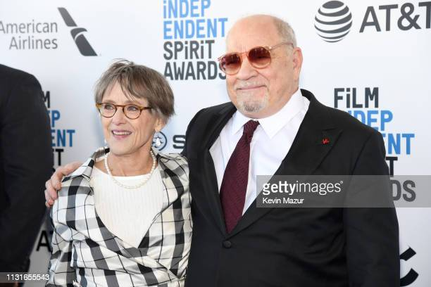 Mary Beth Hurt and Paul Schrader attend the 2019 Film Independent Spirit Awards on February 23 2019 in Santa Monica California