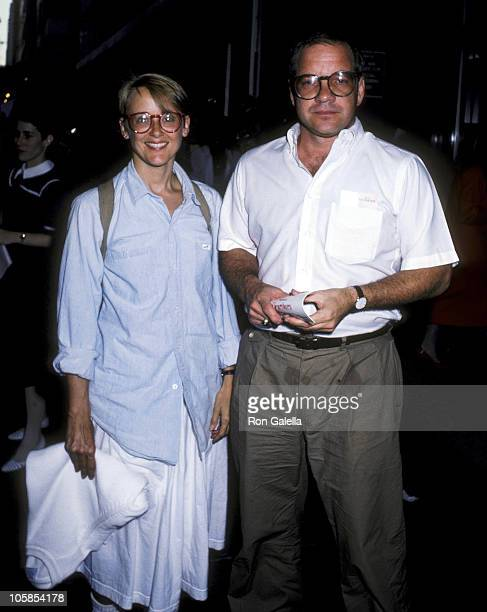 Mary Beth Hurt and Paul Schrader during Premiere of Heartburn at Lowe's Tower East in New York City New York United States