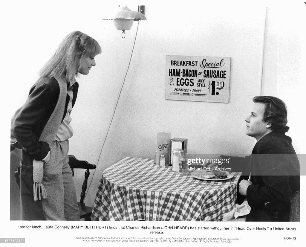Mary Beth Hurt And John Heard In 'Head Over Heels' : News Photo