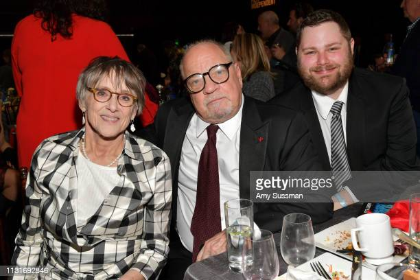 Mary Beth Hurt, Paul Schrader, and Sam Schrader attend the 2019 Film Independent Spirit Awards on February 23, 2019 in Santa Monica, California.