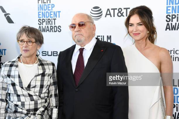 Mary Beth Hurt Paul Schrader and Victoria Hill attend the 2019 Film Independent Spirit Awards on February 23 2019 in Santa Monica California