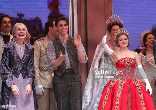 Mary Beth Peil Derek Klena and Christy Altomare during Broadway Opening Night Performance Curtain Call bows for 'Anastasia' at the Broadhurst Theatre...