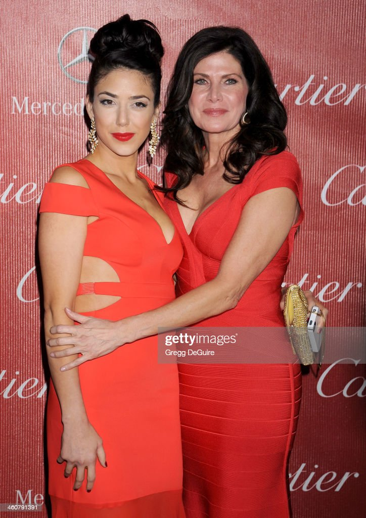 Mary Bono and daughter Chianna Maria Bono arrive at the 25th Annual Palm Springs International Film Festival Awards Gala at Palm Springs Convention Center on January 4, 2014 in Palm Springs, California.