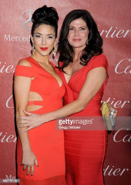Mary Bono and daughter Chianna Maria Bono arrive at the 25th Annual Palm Springs International Film Festival Awards Gala at Palm Springs Convention...