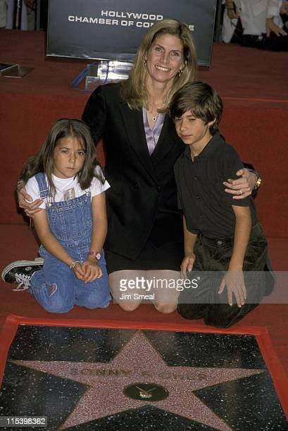 Mary Bono and kids Chianna and Cesare during 2108th Walk of Fame Star Ceremony For Sonny and Cher at Walk of Fame on Hollywood Boulevard in Hollywood...