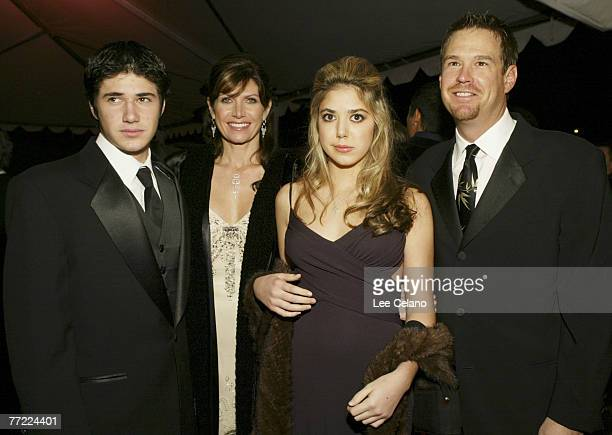 Mary Bono with her son Chesare daughter Chianna and Glen Baxter