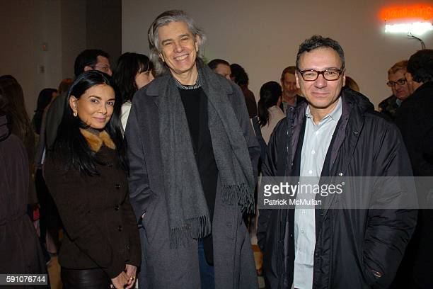Mary Boone Mel Bochner and Peter Halloy attend PaceWildenstein Private Opening of Logical Conclusions 40 Years of Rule Based Art and After Party at...