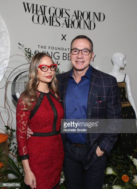 Mary Bush and Steve Eleif attend The Foundation for Living Beauty Dinner Under the Stars on May 19 2018 in Beverly Hills California