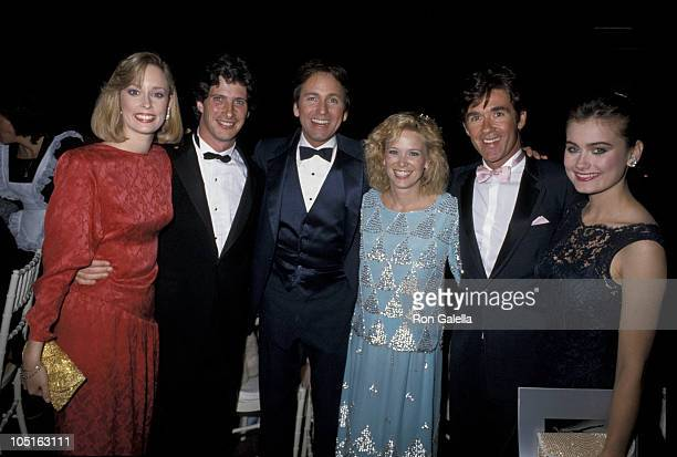 Mary Cadorette with husband, John Ritter with wife Nancy, and Alan Thicke with date