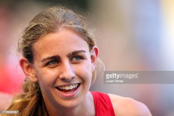 Mary Cain of the United States competes in the Women's 1500 metres heats during Day Two of the 14th IAAF World Athletics Championships Moscow 2013 at...