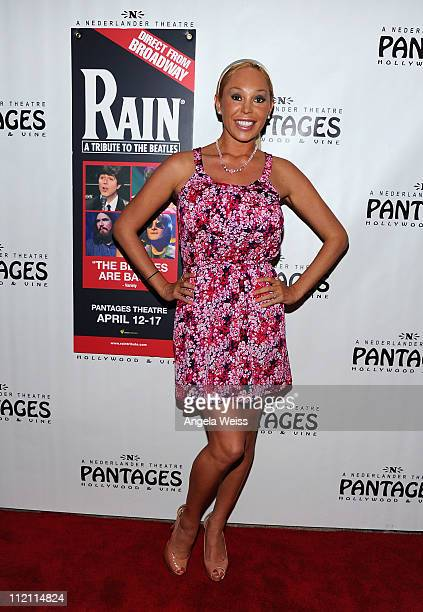 Mary Carey arrives at the opening night of 'Rain A Tribute To The Beatles' at the Pantages Theatre on April 12 2011 in Hollywood California