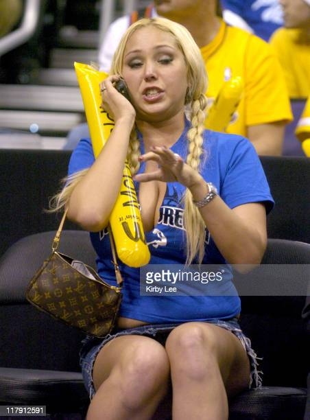 Mary Carey at Los Angeles Lakers' game against the Phoenix Suns at the Staples Center in Los Angeles, Calif. On Wednesday, Dec. 8, 2004.