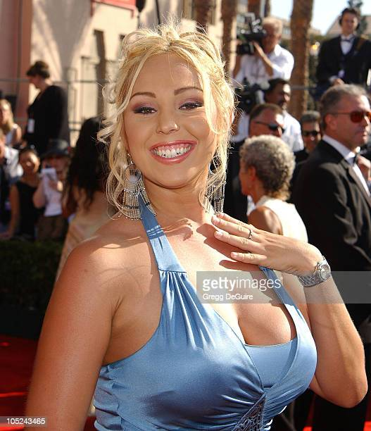 Mary Carey during 55th Annual Primetime Emmy Awards - Arrivals/DeGuire at The Shrine Auditorium in Los Angeles, California, United States.