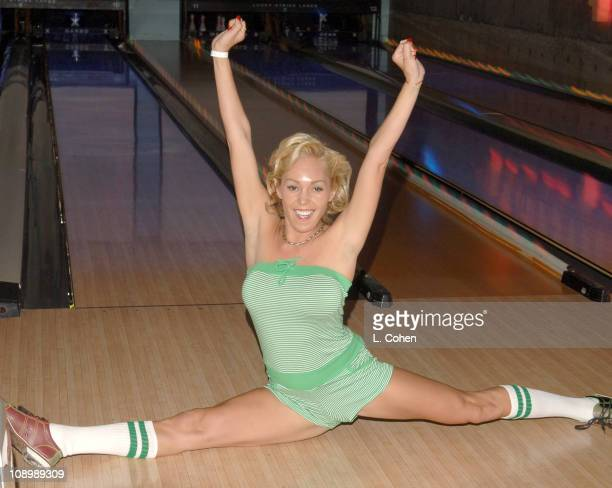 Mary Carey during TMobile Launches The New BlackBerry Pearl with a Night of Bowling for Charity Inside at Lucky Strike Lanes in Los Angeles...