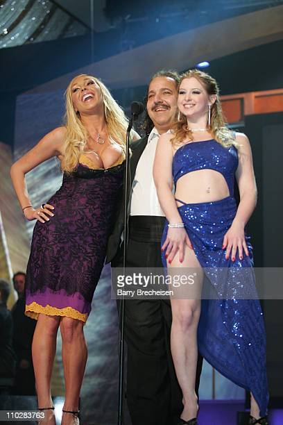 Mary Carey Ron Jeremy and Sunny Lane during 23rd Annual AVN Awards Show at Venetian Hotel in Las Vegas Nevada United States