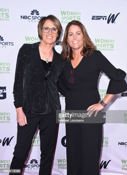 Mary Carillo and Julie Foudy attend The Women's Sports Foundation's 39th Annual Salute To Women In Sports And The Girls They Inspire Awards Gala on...