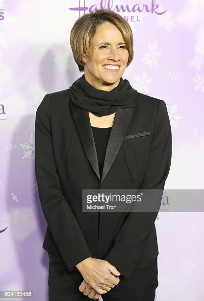 Mary Carillo arrives at Hallmark Channel/Hallmark Movies and Mysteries party during the Winter 2016 TCA press tour held at Tournament House on...