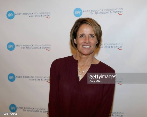 Mary Carillo attends the Roger Federer Comes To Austin event benefitting the Andy Roddick Foundation at the Paramount Theatre on September 17 2018 in...