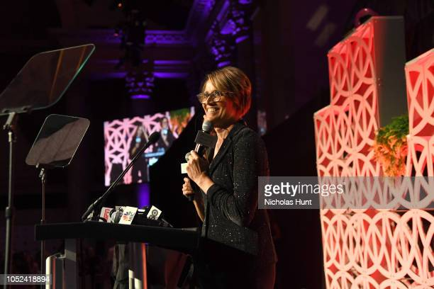 Mary Carillo speaks onstage during The Women's Sports Foundation's 39th Annual Salute To Women In Sports And The Girls They Inspire Awards Gala...
