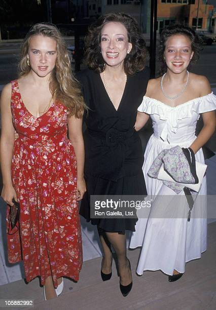 Mary Carter Dixie Carter and Ginna Carter during Designing Women Party August 28 1987 at Pacific Design Center in Los Angeles California United States