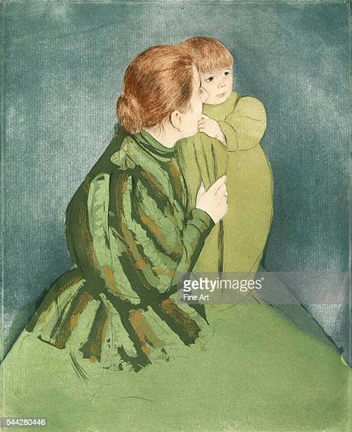 Mary Cassatt Peasant Mother and Child c 1895 etching and aquatint on laid paper 297 x 24 cm private collection