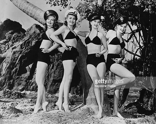 Mary Castle Lori Nelson Claudette Thornton And Kathleen Hughes Representing The Branches Of The American Forces In The Fifties United States Hollywood