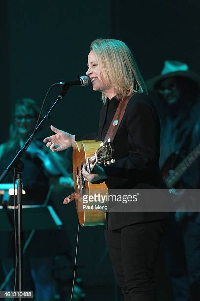 Mary Chapin Carpenter performs on stage during The Life Songs of Emmylou Harris An All Star Concert Celebration at DAR Constitution Hall on January...