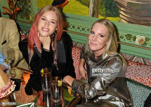 Mary Charteris and Alice NaylorLeyland attend the Annabel's x Dior dinner on May 21 2018 in London England