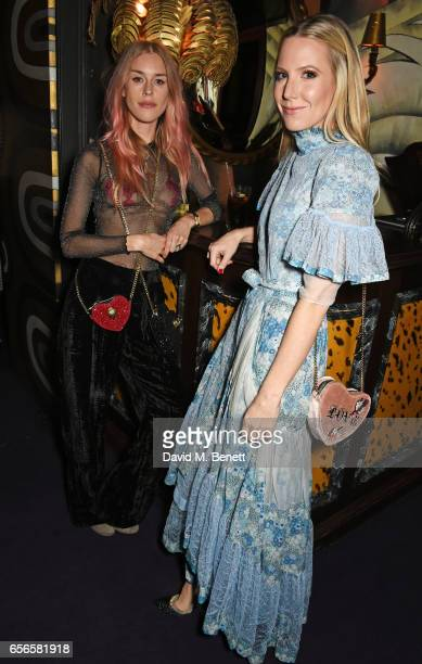 Mary Charteris and Alice NaylorLeyland attend the Edie Campbell and Kurt Geiger Flash dinner at Loulou's on March 22 2017 in London England