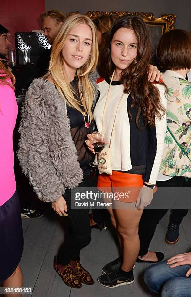 Mary Charteris and Amba Jackson attend the launch of the new 'Jade Jagger' New Bond Street showroom on May 6 2014 in London England
