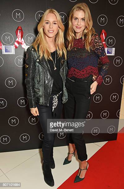 Mary Charteris and Donna Air attend the launch of M Victoria Street in aid of Terrence Higgins Trust on January 27 2016 in London England