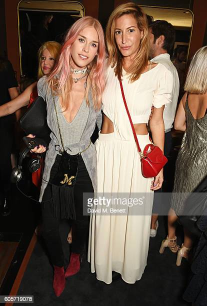 Mary Charteris and Laura Pradelska attend as Blakes hotel celebrates the launch of Blakes Below a luxury bar and lounge designed by Anouska Hempel on...