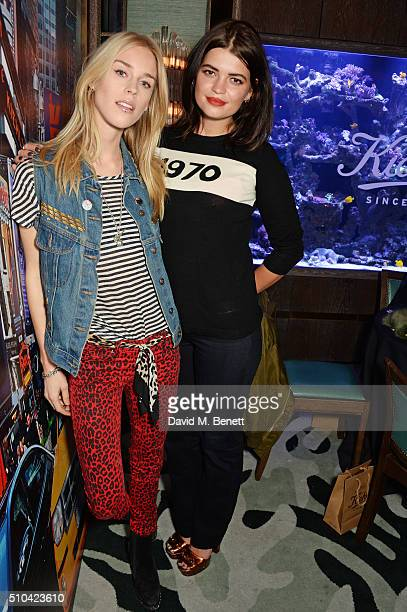 Mary Charteris and Pixie Geldof attends the Kiehl's VIP dinner hosted by Pixie Geldof and Jack Guinness at Sexy Fish on February 15 2016 in London...