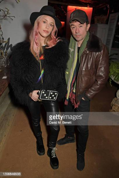 Mary Charteris and Robbie Furze attend the launch of new positive media platform 'whynow' at Petersham Nurseries on March 12 2020 in London England